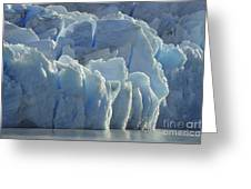 Grey Glacier In Chilean National Park Greeting Card