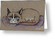 Grumpy Cat Having Some Rest Greeting Card
