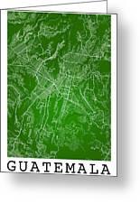 Guatemala Street Map - Guatemala City Guatemala Road Map Art On  Greeting Card