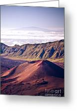 Haleakala Sunrise On The Summit Maui Hawaii - Kalahaku Overlook Greeting Card