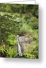 Hana Waterfall Greeting Card by Jenna Szerlag