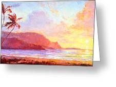 Hanalei Sunset Greeting Card