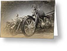 Harley Davidsons Greeting Card