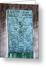 Headstone Abstract Greeting Card
