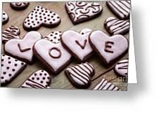 Heart Cookies Greeting Card