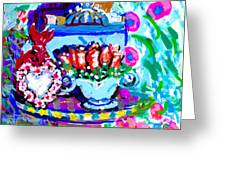 Heart Roses And Tiara Greeting Card