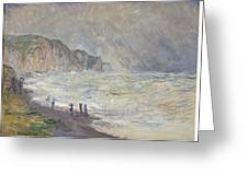 Heavy Sea At Pourville Greeting Card