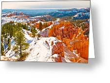 High Angle View Of Rock Formations Greeting Card