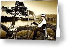 High Fashion Harp Greeting Card