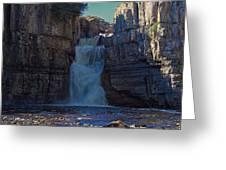 High Force Waterfall Greeting Card
