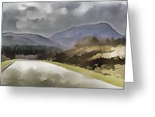 Highway Running Through The Wilderness Of The Scottish Highlands Greeting Card