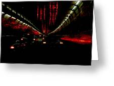 Holland Tunnel Lights Greeting Card