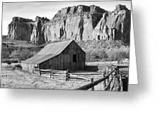Horse Barn In Fruita Utah Greeting Card