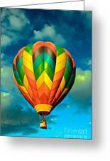 Hot Air Balloon Greeting Card by Robert Bales
