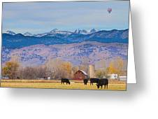 Hot Air Balloon Rocky Mountain Country View Greeting Card