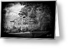House On Haunted Hill Greeting Card by Madeline Ellis