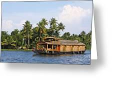 Houseboats On The Kerala Backwaters Greeting Card