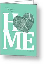Houston Street Map Home Heart - Houston Texas Road Map In A Hear Greeting Card