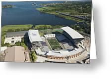Husky Stadium At The University Greeting Card
