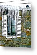 Ice By The Window Greeting Card