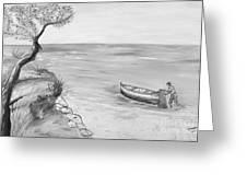 Il Pescatore Solitario Greeting Card