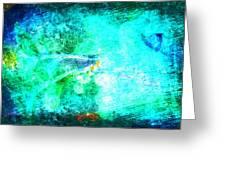 Impressionist Blue Greeting Card
