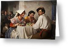 In A Roman Osteria Greeting Card
