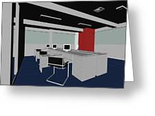 Interior Office Rooms Greeting Card
