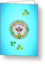 Irish Canadian Greeting Card