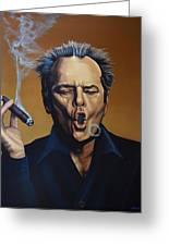 Jack Nicholson Painting Greeting Card