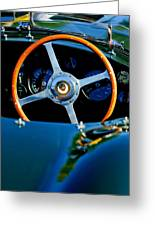 Jaguar Steering Wheel Greeting Card