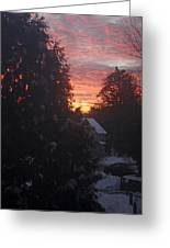 January Sunrise From Civill Avenue Greeting Card