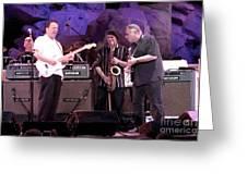 Guitarists Jimmie Vaughan And Duke Robbilard Greeting Card