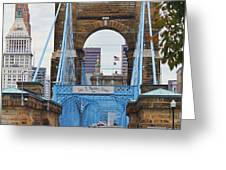 John Roebling Bridge 1867 Greeting Card