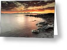 Jura Sunset Greeting Card