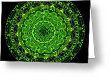 Kaleidoscope Of Glowing Circuit Board Greeting Card
