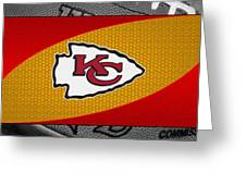 Kansas City Chiefs Greeting Card by Joe Hamilton
