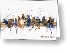 Kansas City Skyline Greeting Card by Michael Tompsett