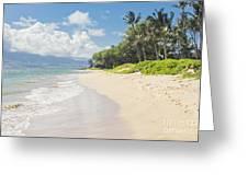 Kawililipoa Beach Kihei Maui Hawaii Greeting Card