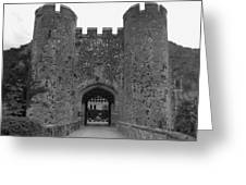 Keys To The Castle - Black And White Greeting Card
