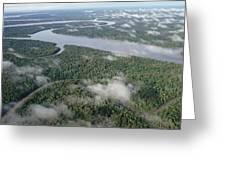 Kikori River In The Rainforest Kikori Greeting Card