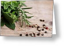 Kitchen Herbs Greeting Card