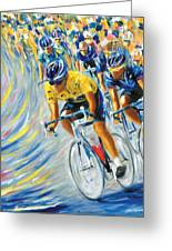 Pro Bike Racing Paris Greeting Card
