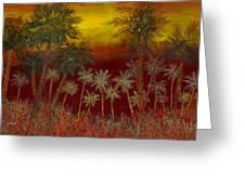 La Jungla Rossa Greeting Card