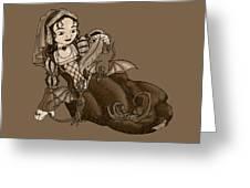 Lady Merewalds Pets Greeting Card