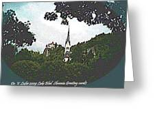 Lake Bled.slovenia.greeting Card Greeting Card