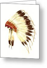 Lakota Headdress Greeting Card