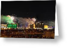 Las Vegas Fireworks Greeting Card