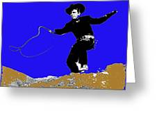 Lash Larue Bull Whip Publicity Photo Greeting Card