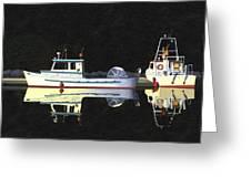 Last Light  Island Moorage Greeting Card